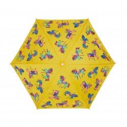 Paraguas amarillo Caballos