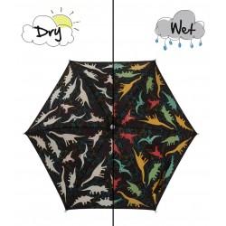 Paraguas negro Dinosaurios