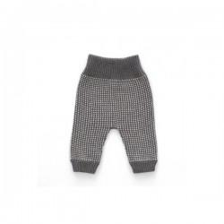 New born pant - grey dot