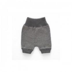 New born shorts - grey dot