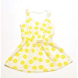 Vestido Peixitu Crudo estampado amarillo