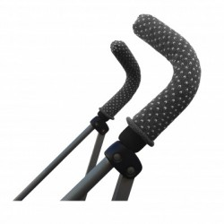 Pushchair handles protectors - Grey Dot