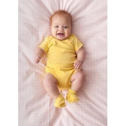 Body manga corta - amarillo