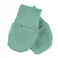 Baby anti scratch mittens - Moss green