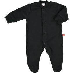 Front-fastening pyjama - Black