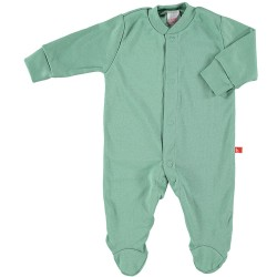 Front-fastening pyjama - Moss green