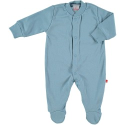Front-fastening pyjama - Blue denim