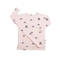 Camiseta larga rosa Pájaros