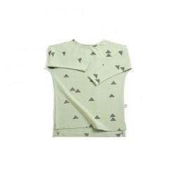 Camiseta larga verde Triángulos