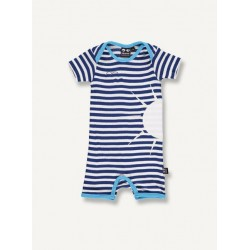 Sun suit, navy stripe