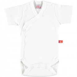 Body cruzado manga corta - blanco