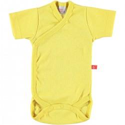 Body cruzado manga corta - amarillo