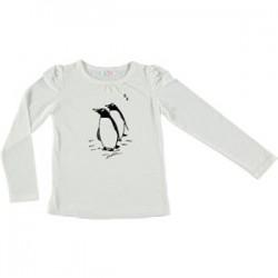 Camiseta Ni–a PingŸinos Flock - crudo