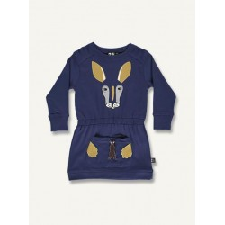Kangaroo dress - indigo blue